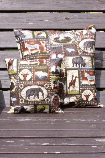 Tierkissen Afrika Look 2 - Kissenbezug mit Tiermotiven