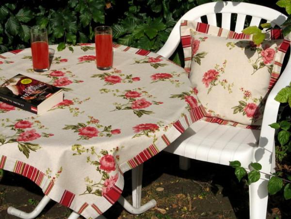 Gartentischdecken Tischwäsche Serie Rose