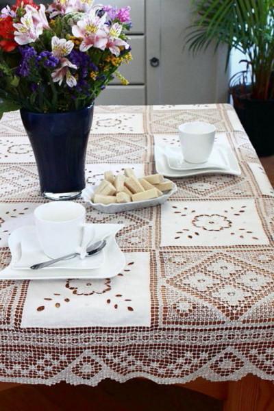 Tischdecke geknüpft in rund und eckig