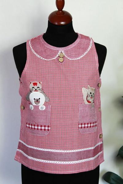Kinderschürze nostalgisch mit Kätzchen