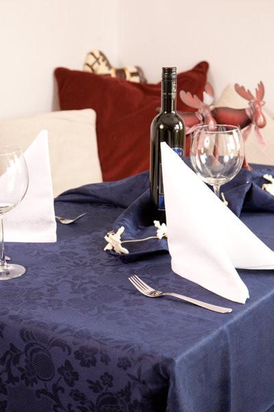 Tischwäsche Tafeldecke Jennifer rot oder blau