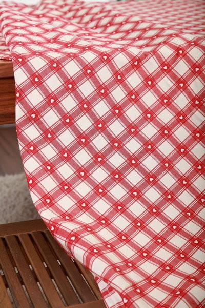 Stoff Meterware herziger Landhausstil rot 280cm breit
