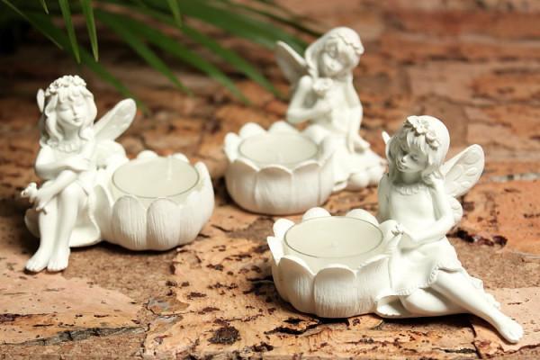 Teelicht Elfen in 3 versch. Ausführungen