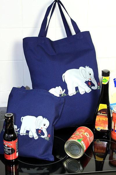Einkaufstasche Elefanten klein oder groß