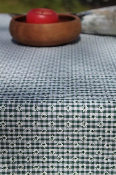Tischdecke grün-weiß kleinkariert