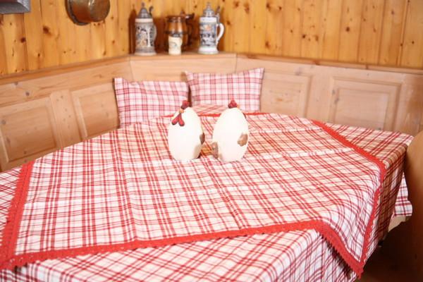Tischdecke Tulpe Karo rot
