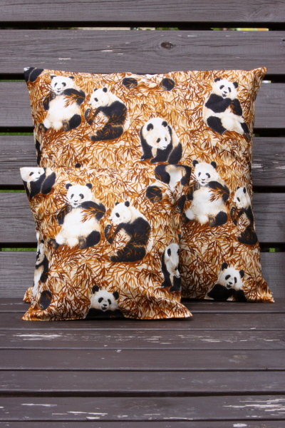 Tierkissen Pandabär - Kissenbezug mit Tiermotiven